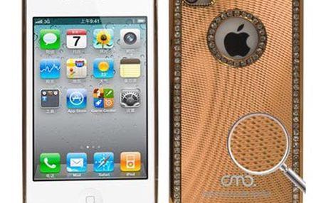 Pouzdro / kryt pro Apple iPhone 4 / 4S - OMO, zlatý - DOPRODEJ