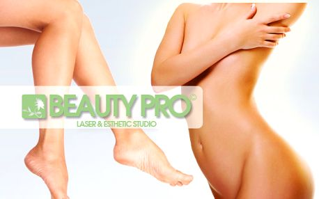 Odstranění chloupků celého těla laserem na Praze 1 a Praze 6 ve studiích Beauty PRO