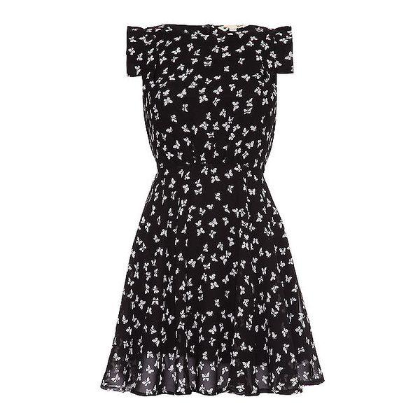 Dámské černé šaty s motýlky Yumi