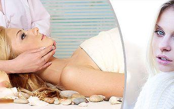 Masáž obličeje, krku a dekoltu + zapracování séra kolagemu s elastinem ultrazvukovou špachtlí