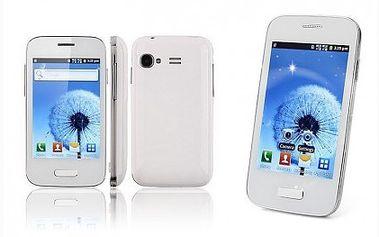 Dotykový telefon s velkým displejem s plnou výbavou a moderním designem za pár kaček. Vychytaný chytrý telefon s Androidem, wifi a dalšími moderními technologiemi.