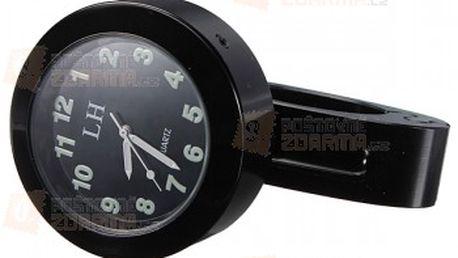 Analogové hodiny na motorku - černé a poštovné ZDARMA! - 11209321