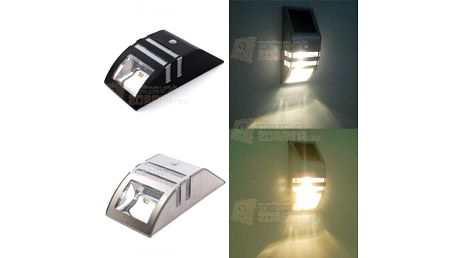 Solární lampa na zeď s čidlem pohybu - 2 barevné provedení a poštovné ZDARMA! - 10809300