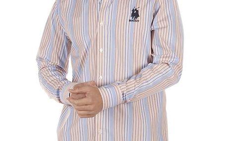 Pánská pruhovaná košile s černou výšivkou Bendorff Next