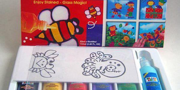 Malá sada 6 slupovacích barviček na sklo - pro Váš výtvarný podzim!