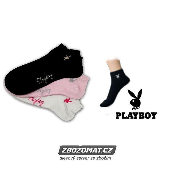 Dámské ponožky Playboy 3 páry - na sport i běžné nošení!