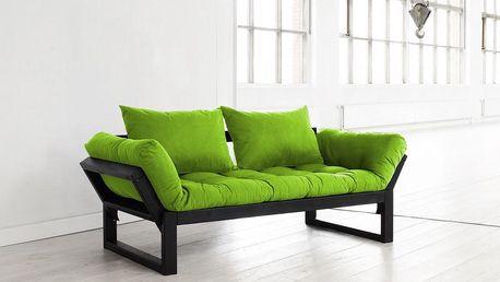 Sofa Karup Edge, černá/limetková