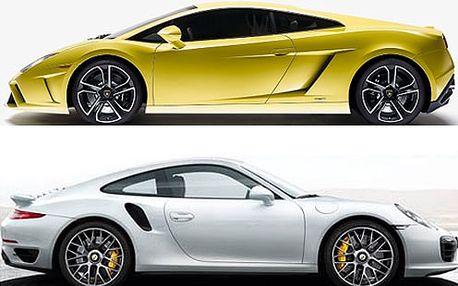 Supr jízda na Ferrari, Lamborghini, Porsche, Audi nebo na Nissanu GT-R