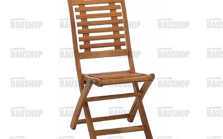 Zahradní skládací židle Lake Sylva z tvrdého tropického dřeva