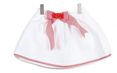 Bílá sukýnka s červenou mašlí