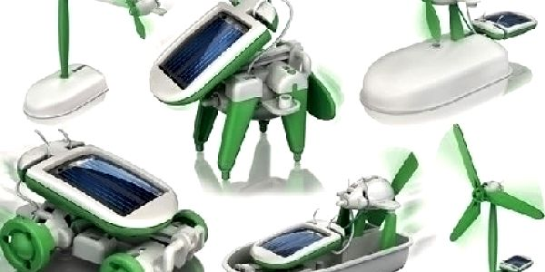 Solární stavebnice ROBOT - 6v1. Ideální hračka, která spojuje zábavu se vzděláním
