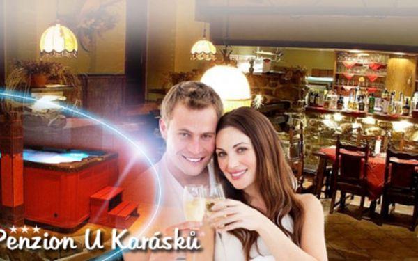 Až PĚTIDENNÍ romantická dovolená na Vysočině v oblíbeném Penzionu U Karásků*** s nadstandardní POLOPENZÍ, PRIVÁTNÍM WELLNESS a LAHVÍ VÍNA, za ceny již od 1760 Kč za osobu! Dovolená v krásné přírodě Jižních Čech! Sleva 50%!