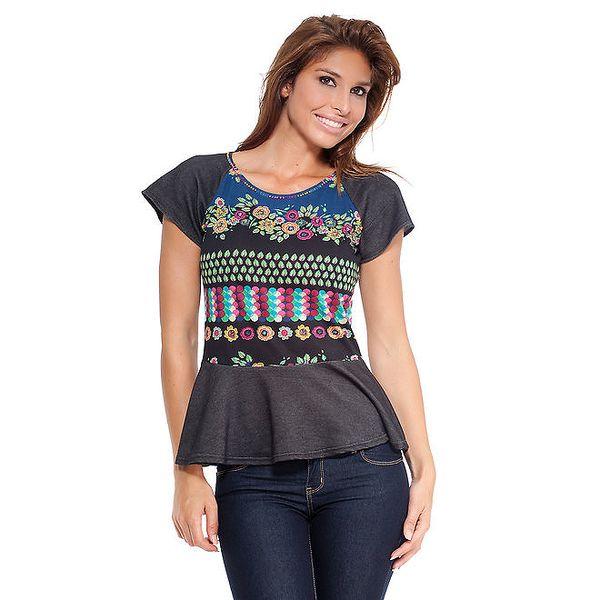 Dámské černé tričko s kanýrem Janis