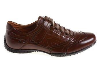 Pánské hnědé boty se suchým zipem Quattrocento