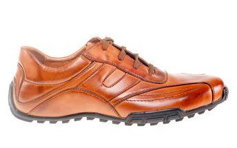 Pánské koňakově hnědé šněrovací boty Quattrocento