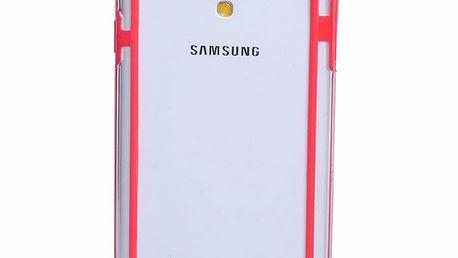 Průhledný kryt s červenými boky pro Samsung Galaxy S4