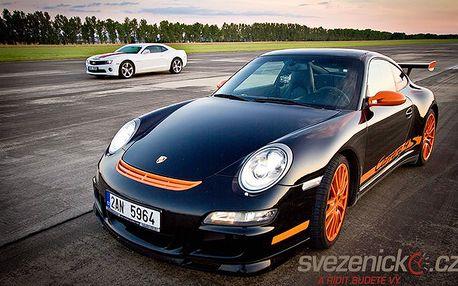 15 nebo 30 minut jízdy ve sporťácích Lamborghini, Ferrari, Porsche nebo Cammaru