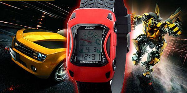 Dětské hodinky ve tvaru sportovního auta!! Pro všechny malé motoristy !! NOVINKA !!