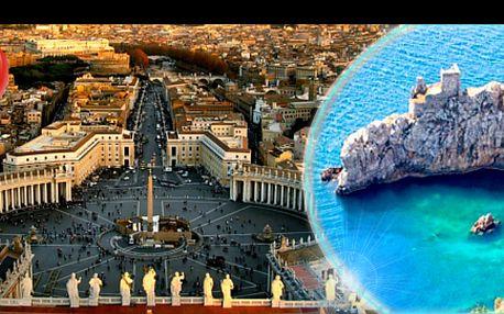 4denní poznávací zájezd nejvýznamnějších měst vitálii a ostrova capri, se slevou 41 %: věčné město řím, papežské sídlo vatikán, ostrov snů a legend capri, ubytování v4* hotelu včetně snídaně + doprava. Objevte spolu snámi krásy itálie.