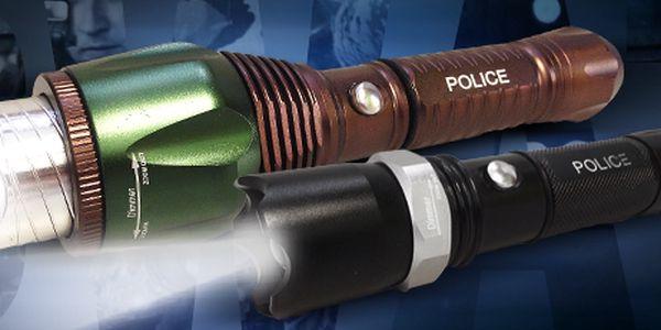 Profesionální LED svítilny (baterky) SWAT: malé, velmi výkonné, dlouhá výdrž