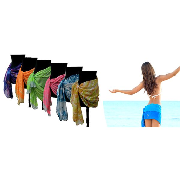 Velký letní plážový šátek v barevném provedení