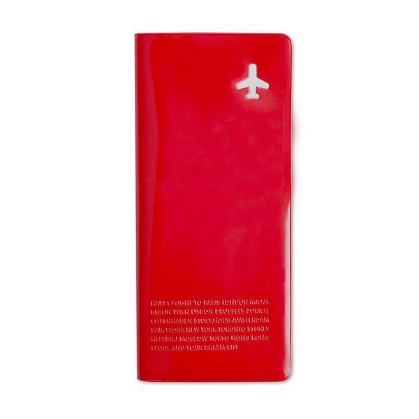 Peněženka na cestovní dokumenty, červená
