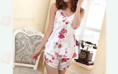 Dámské pyžamo s motivem růží a poštovné ZDARMA! - 11609408