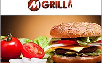 M-Burger a pití za 54 Kč