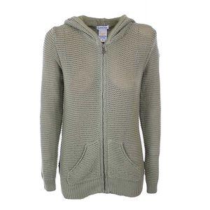 Dámský zelený pletený svetr s kapucí Aeronautica Militare