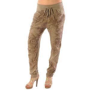Dámské světle hnědé kalhoty se vzorem Silvana Cirri