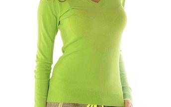 Dámský zelený svetr se srdcem Silvana Cirri