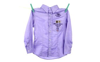 Dětská košile s nápisy Aeronautica Militare