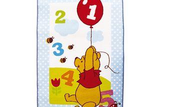 Koberec s číslicemi Medvídek Pú 120x80cm