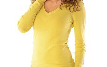 Dámský žlutý svetr se srdcem Silvana Cirri