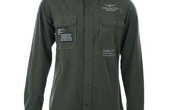 Pánská košile s výšivkami a kapsami Aeronautica Militare