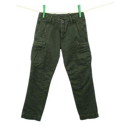 Dětské tmavě zelené kalhoty Aeronautica Militare