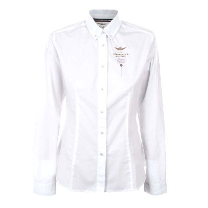 Dámská bílá košile s výšivkou Aeronautica Militare