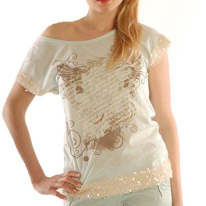 Dámské světlé tričko s flitry Silvana Cirri