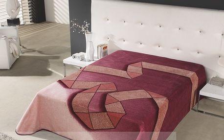 Španělská deka Piel Cubiques 160x220 FIALOVÁ