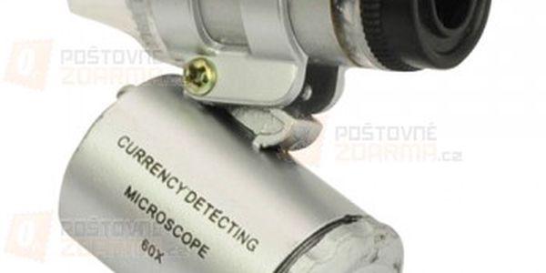 Kapesní mikroskop s LED osvětlením a poštovné ZDARMA! - 12403600