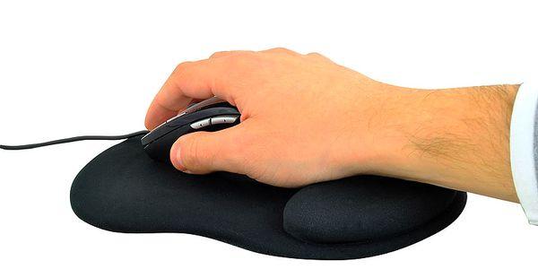 Gelová podložka pod myš černá