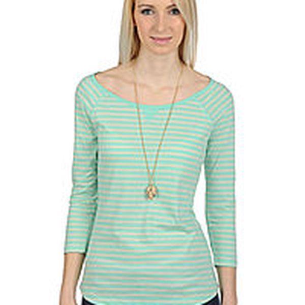 Tom Tailor - dámské slim fit tričko s 3/4 rukávy