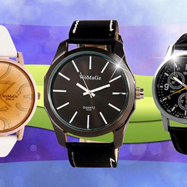 Elegantní pánské i dámské hodinky od 209 Kč! Tři varianty na výběr!