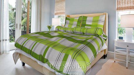 Smolka bavlna povlečení Kristýna zelená 200x220 70x90