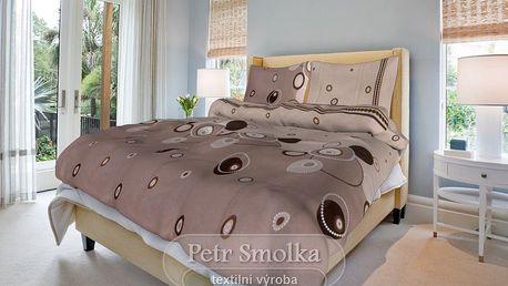 Smolka bavlna povlečení Perličky béžové 200x220 70x90