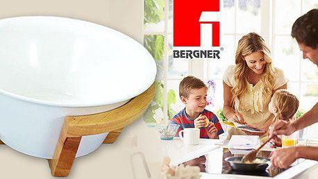 Bílá keramická mísa Bergner na servírování