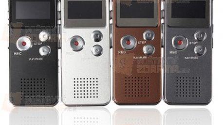 4 GB digitální záznamník s MP3 přehrávačem - 4 barvy a poštovné ZDARMA! - 12209484