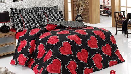 Ariatex bavlna povlečení Valentýn 200x220 70x90