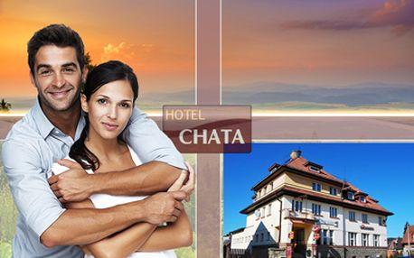 Až 4 dny na Šumavě PRO DVA za 1199 Kč! V Hotelu Chata přímo v centru Šumavy se snídaní!