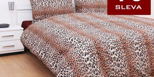 Ariatex Bavlna povlečení Leopard 140x200 70x90